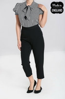 50102 HELL BUNNY CARLIE CIGARETTE TROUSERS, BLK