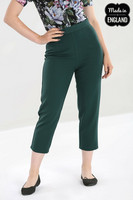 50102 HELL BUNNY CARLIE CIGARETTE TROUSERS, D.GRN