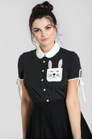 60084 HELL BUNNY MIFFY BLOUSE