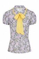 60077 HELL BUNNY WILLOW SPARROW BLOUSE, LAV