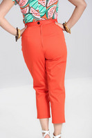 50124 HELL BUNNY HELEN CIGARETTE TROUSERS, OR