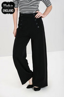 50122 HELL BUNNY CARLIE SWING TROUSERS, BLK