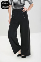50122 HELL BUNNY CARLIE SWING TROUSERS, NVY