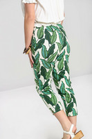 50111 HELL BUNNY RAINFOREST CIGARETTE TROUSERS