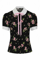 60093 HELL BUNNY BOBBY SUE BLOUSE - plus size restock in May