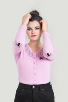 6347 HELL BUNNY SPIDER CARDIGAN, PINK