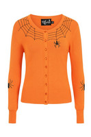 6347 HELL BUNNY SPIDER CARDIGAN, OR