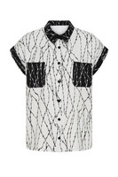 60097 HELL BUNNY BARBED WIRE SHIRT