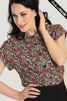 60124 HELL BUNNY EFFIE BLOUSE