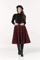 6066 SOPHIE SKIRT WITH BRACES, RED/GRN