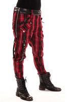 IN Chemical pant, red check