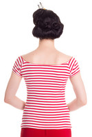 6453  Dolly top, wht/red