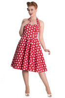 4156 Mariam 50´s dress, red