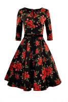 4292 HELL BUNNY ETERNITY 50S DRESS, BLACK