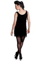 4004 HELL BUNNY 1920'S DRESS, BLACK
