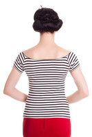 6453  Dolly top, wht/blk
