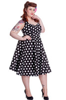 4156 Mariam 50´s dress, blk,plus size