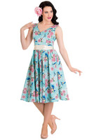 4419 Lacey 50´s dress, turq
