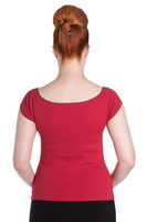 6516 Bardot top, red