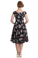 4568 Belinda 50´s dress, blk