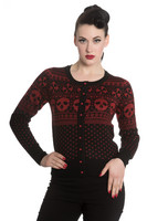 6539  Clara cardigan, blk/red