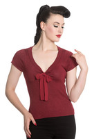 6541 Angette top, red