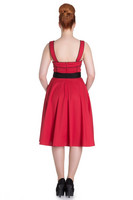 4562 Martie 50´s dress, red
