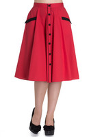 5370 Martie 50´s skirt, red