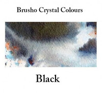Brusho Crystal Colors -  Black 15g