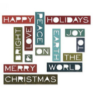 Sizzix Thinlits: Holiday Words 2 -stanssisetti