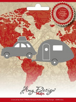 Amy Design: Car with Caravan  -stanssisetti
