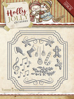 Yvonne Creations: Holly Jolly Card Set  -stanssisetti