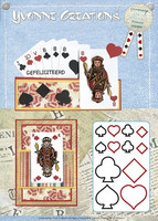 Yvonne Creations: Playing Cards  -stanssisetti