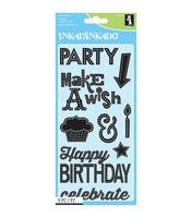 Inkadinkado: Marquee Birthday - kirkas leimasinsetti