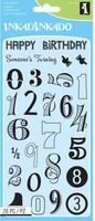 Inkadinkado: Birthday Numbers - kirkas leimasinsetti