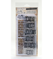 Tim Holtz stamps & stencil: Words  -setti