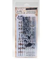 Tim Holtz stamps & stencil: Gentleman  -setti