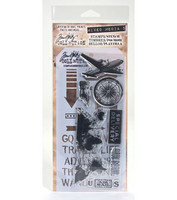 Tim Holtz stamps & stencil: Travel  -setti