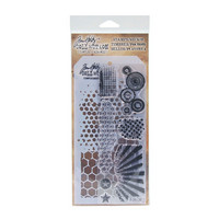 Tim Holtz stamps & stencil: Patterns  -setti
