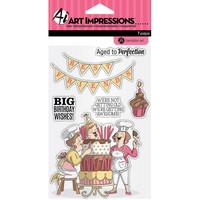Art Impressions: Big Birthday Wishes - kirkas leimasinsetti