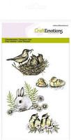 Craft Emotions: Birds and rabbit- kirkas leimasinsetti