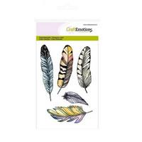 Craft Emotions: Feathers- kirkas leimasinsetti