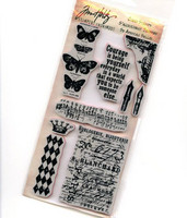 Tim Holtz Cling Stamps: Butterfly Melange - leimasinsetti