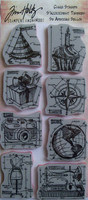 Tim Holtz Cling Stamps: Blueprint Assortment - leimasinsetti