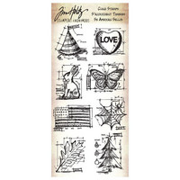 Tim Holtz Cling Stamps: Happy Everything Blueprints - leimasinsetti