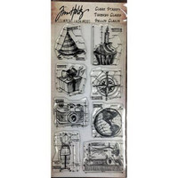 Tim Holtz Clear Stamps: Mini Blueprints - leimasinsetti