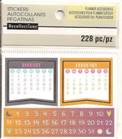 Recollections Planner Stickers:  Boho Mini Calendar - tarrapakkaus