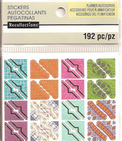 Recollections Planner Stickers:  Boho Photo Corners - tarrapakkaus