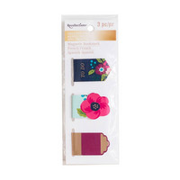 Recollections Creative Year Magnetic Bookmarks: Dark Floral