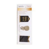 Recollections Creative Year Magnetic Bookmarks: Black & Gold